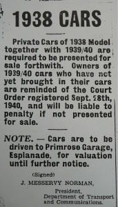 Cars Notice