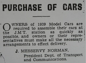 Purchase of Car Notice